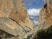 Desfiladero de Mont-rebei en la sierra del Montsec