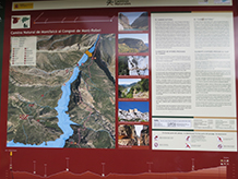 Panel interpretativo del camino de Montfalcó.