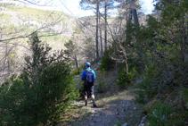 Bajamos hacia el barranco de Sant Ou.