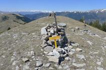 Cima secundaria que nos encontramos durante el descenso.