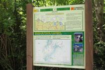 Un panel indicativo nos da información de la zona.