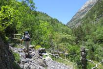 Ascendemos por un camino a veces pedregoso por entre bosques y espacios abiertos.