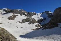 Continuación de la cresta de Espadas hasta el pico Posets.