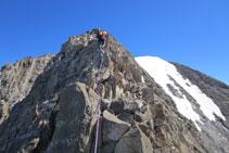 Protegemos los pasos finales antes de llegar al pico Espadas.