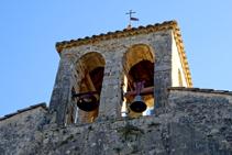 Detalle del campanario de Santa Cecília.