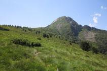 Dejamos el bosque atrás y llegamos al Sarrat de la Llau.