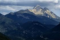 Vistas del Pedraforca, desde el camino de regreso a Josa de Cadí.