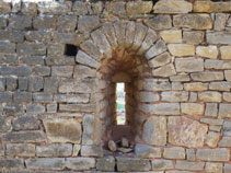 Parte de lo que fue la iglesia de Sant Sadurní.