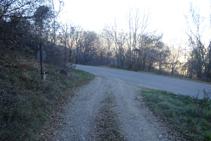 Llegamos a la carretera de Olp a Pujalt.