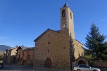 La iglesia de la Mare de Déu de la Candelera, en el centro de Olp.