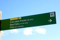 Cartel indicativo al inicio de la ruta.