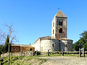Iglesia y d�lmenes de Fitor desde Fonteta