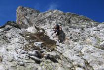 Mayoritariamente la roca es buena y estable, permitiendo buenos agarres.