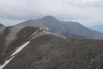 Cresta entre los dos Gra de Fajol y el Balandrau.