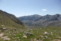 El valle de Campcardós desde el puerto de Fontnegra.