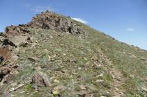 Llegando a la cima del pico Negre de Envalira.
