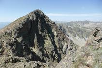 Cara N del pico de Envalira vista desde el pico Negre.
