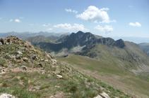 Pics de Fontnegra desde los picos de Envalira.