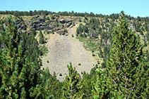 Las rocas metamórficas se erosionan formando canchales.