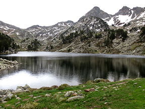 Lago de Baciver desde el Pla de Beret