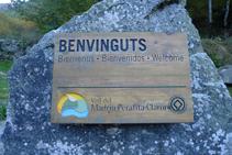 Cartel del Parque Natural del Valle del Madriu-Perafita-Claror que nos encontramos en el inicio de la ruta.
