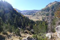 Vistas de la cabecera del valle de Claror, donde nos dirigimos.