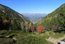 Mirada atrás (NO): el valle de Perafita, por donde hemos subido.