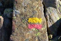 Marcas amarillas y rojas del GRP.