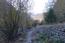 Camino empedrado del valle de Madriu.