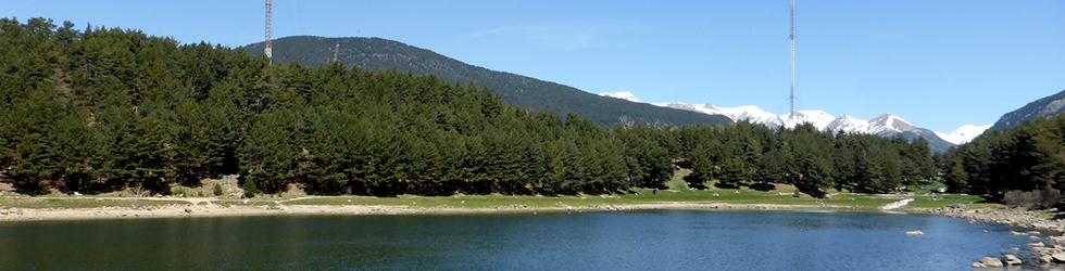 Lago de Engolasters y camino de las Pardines