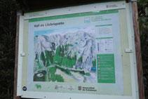 Panel informativo con mapa de situación de la zona.
