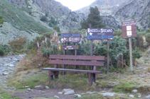 Cruce hacia el refugio del Siscaró.