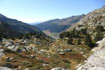 Vista del valle de Incles desde el mirador de la Pleta de Juclar.
