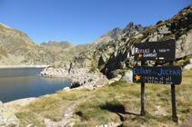Lago Primer y pico de Escobes.