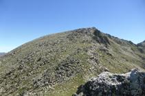 El Alt del Griu visto desde el collado de Entinyola.