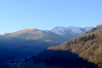 Las montañas de Ulldeter desde el punto más elevado de la Roca.