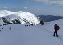 Panorámica de la parte oriental de la sierra de Ensija, bajando de la Gallina Pelada.
