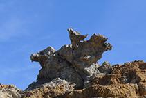Roca de S´Àliga en el Paraje de Tudela.