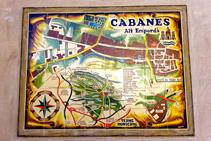 Plano del núcleo de Cabanes.