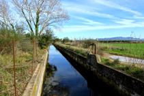 Canal Gros bajo el Montpedrós.
