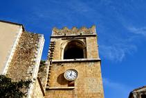 Campanario de la iglesia de Sant Martí de Peralada.