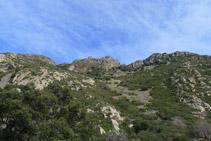 Castillo de Verdera, por encima de nosotros.