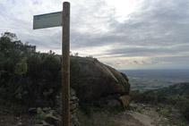Desvío del itinerario E (Itinerario megalítico de la Sureda).