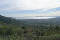 Vistas del golfo de Rosas.