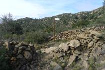 Desvío del camino de Sant Onofre.