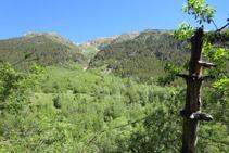 Al norte, al otro lado del valle, tenemos el Pinetó y la sierra del Pago.