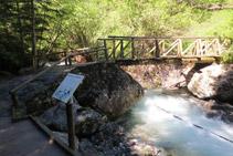 En función de la época del año, el caudal del río puede ser abundante.