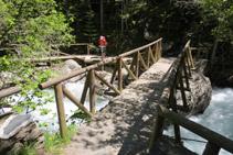 Puente de la Gorga. Punto final de la pasarela.