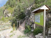 La ruta finaliza en el mirador de fauna.
