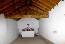 Interior de la ermita de Santes Creus.
